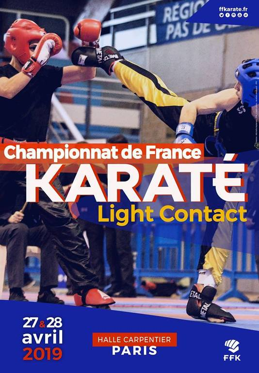 CHAMPIONNAT DE FRANCE FFK LIGHT CONTACT  DU 27/28 avril 2019